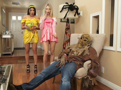 Kylie Rocket, Lily Larimar - Halloween Surprise From Step-brother | artporn 365 days video in hd 720p